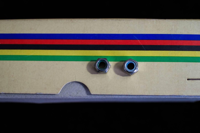 NOS Campagnolo Muttern x2 Ersatzteile für Vintage Bremsen 70's / 80's Brake Nuts Road Bike