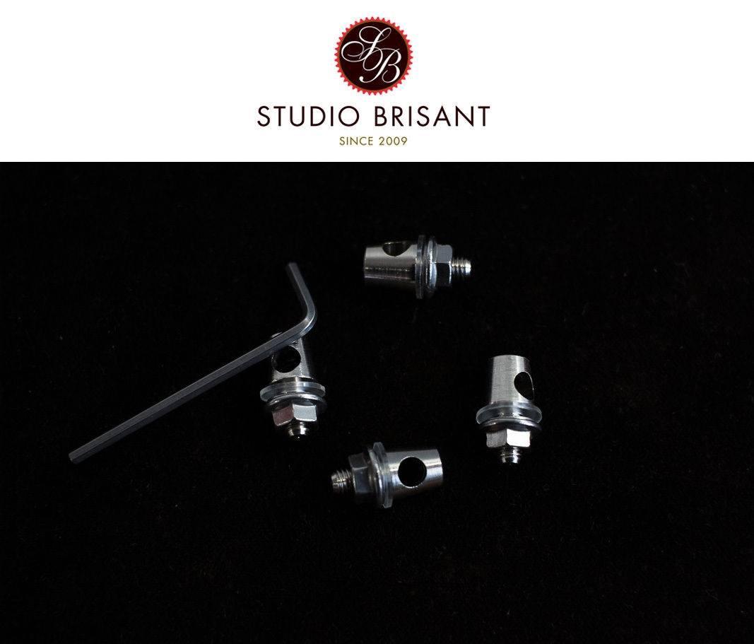Honjo Daruma Brass Messing Strebenkloben für 5 mm Streben 4er Set