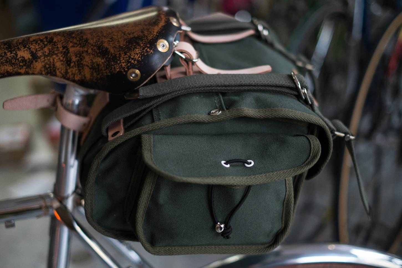 OSTRICH Saddle Bag S-2 Satteltasche grün