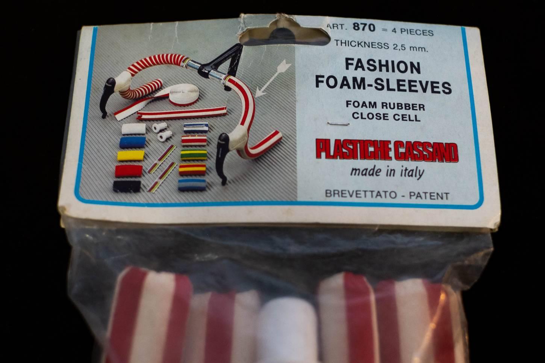 NOS Plastiche Cassano Fashion Foam-Sleeves Lenkergriffe Vintage
