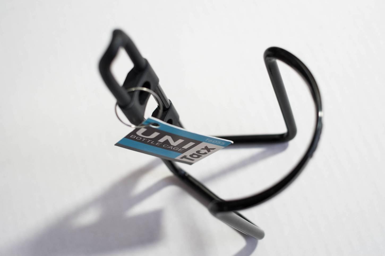Tacx Uni porte-bidon aluminium T6055 Porte-bidon argent + noir