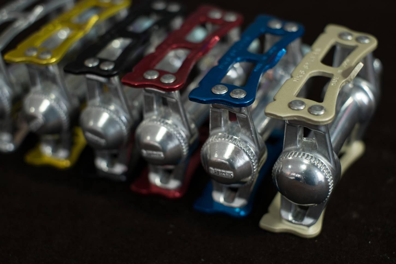 MKS Sylvan Track Pedale, Pedals in Silber, Schwarz, Rot, Gold, Blau, Sondermodell Prime